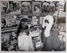 Fun in the Halloween masks aisle.