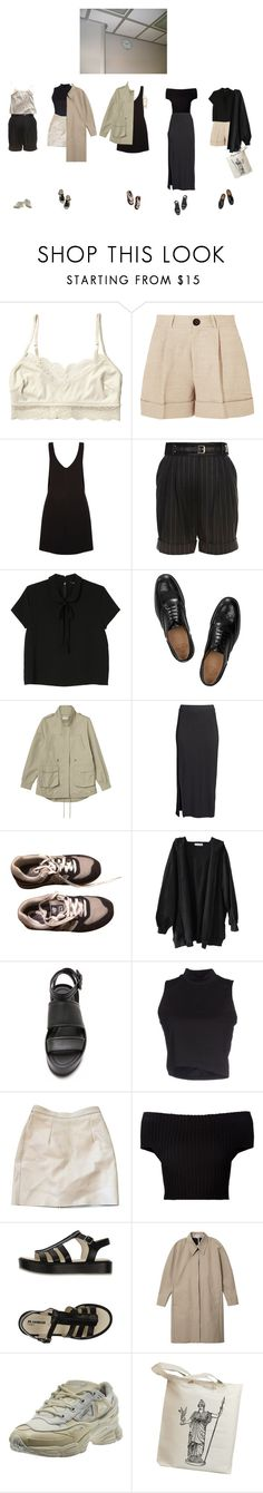 """""""Без названия #1115"""" by haomind ❤ liked on Polyvore featuring Monki, Totême, New Look, River Island, Church's, H&M, New Balance, Vince, Pieces and American Apparel"""