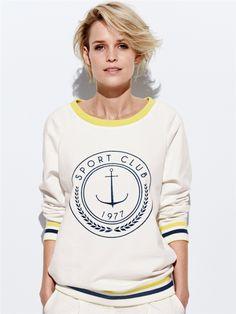 SWEAT FEMME CYRILLUS SPORT CLUB Cyrillus Preppy Look, Hoodies, Sweatshirts, Athleisure, Sportswear, Dress Up, Graphic Sweatshirt, Couture, Dressing Room