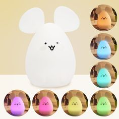 LED Night Light, Sensor Tap Control, USB Rechargeable with White and 7-Color Modes, Eco- friendly Silicone Baby Nursery Lamp(Rabbit/Bear/Mouse) >>> See this great product. (This is an affiliate link and I receive a commission for the sales)