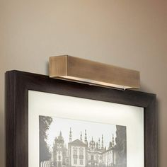 """Ralston 14"""" Wide Antique Brass Plug-In Picture Light"""
