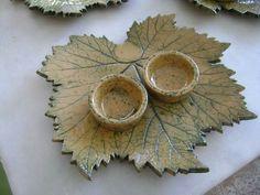 Grape leaf plate Asma yaprağı atıştırmalık tabağı