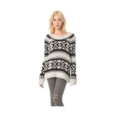 Free People Silver Reed Pullover ❤ liked on Polyvore featuring tops, sweaters, shirts, dresses, blusas, long sweaters, women sweaters, silver sweater, mens pullover shirts and raglan sweater