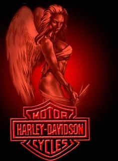Red Harley Angel.  Repinned by An Angel's Touch, LLC, d/b/a WCF Commercial Green Cleaning Co., Denver's Property Cleaning Specialists!  http://angelsgreencleaning.net