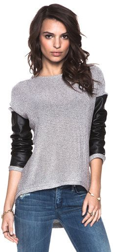 #Revolve Clothing         #love                     #Generation #Love #Bobo #Metallic #Leather #Sleeve #Combo #Sweater #Silver/Black #from #REVOLVEclothing.com                       Generation Love Bobo Metallic Leather Sleeve Combo Sweater in Silver/Black from REVOLVEclothing.com                               http://www.seapai.com/product.aspx?PID=520886