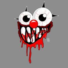 Das ClownMonster Erhältlich im FreakyRebels Shop  shop.spreadshirt.de/freaky-rebels