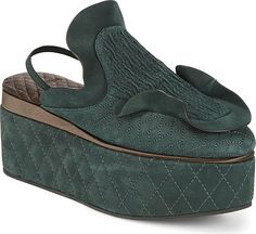 6e61633d5af Fendi Women s Shoes in Green Color. Cozy mule crafted from leather with  trellis design.