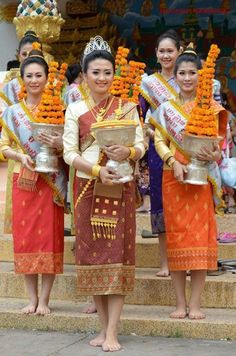 Laos traditional dress