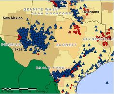 Active shale rigs in Texas - July 2014.