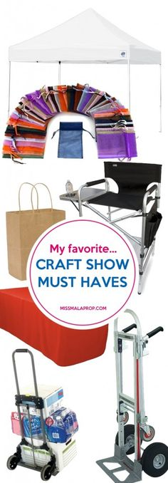 I've been doing my fair share of craft fairs for 10 years now, so I've learned a lot of tricks along the way. (I even wrote a book about it.) My craft show tool kit has evolved a lot over the years, and now there are a few handy items I can't live without bringing to a craft fair. Learn about my craft show must haves at MissMalaprop.com