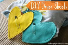 How-to: Homemade Dryer Sheet Replacement ** I have never used dryer sheets, but might have to try this.