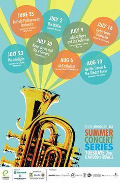 Bidwell concert poster