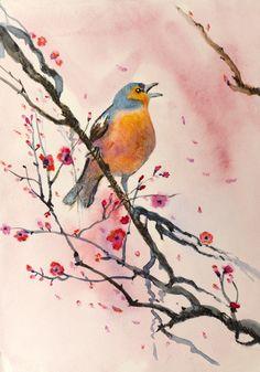 Bird Watercolour Painting from $34.99   www.wallartprints.com.au #WatercolourPainting