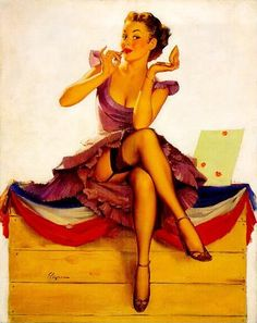 One For The Money by Gil Elvgren