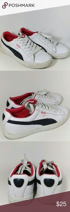 Men's Puma Clyde leather Gently used Puma Clyde leather sneakers without a box. Shoes are a little dirty Puma Shoes Sneakers