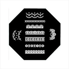 QA Nail Art Stamp Template Vintage Lacy Plaid Floral Pattern *** See this great product. Note:It is Affiliate Link to Amazon.