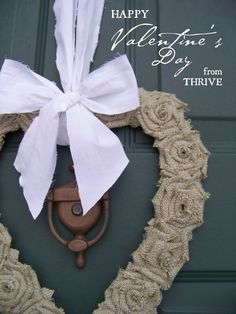 Burlap Valentine's Wreath … from a box and old shirt!