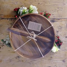 "Buy gift wrapped Acacia wood salad bowl sets from Pacific Merchants today! Great for the home, and to share a meal with the people who matter most. This salad set includes one 12"" Round Calabash Bowl and one 2 piece set of 12"" salad servers  #weddingregistry #weddinggift $60.00"