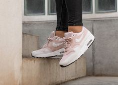 quality design 384fe d74c0 Nike Air Max 1   Barely Rose White   Womens Trainers  319986-607   Nike