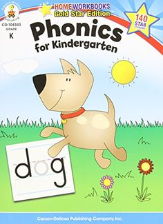 Phonics for Kindergarten, Grade K: Gold Star Edition   Price is for EA. Manufacturer Part Number: CD-104343 Updated with fun, colorful pages and engaging art, the best-selling Home Workbooks Read  more http://shopkids.ca/book/phonics-for-kindergarten-grade-k-gold-star-edition