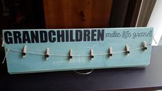 Gift Idea! Grandchildren Grandparent Sign Clothespins to by owlpaperscissors, $25.00