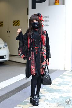 [Harajuku Lady Zorro! - www.Fashion.my] Name: Chihiro, Kimono Top: Ozz On, Kimono Skirt: Cutie Flash, Socks: Bought in Harajuku, Bag: Vivienne Westwood, Mask: Bought in Harajuku #LadyZorro