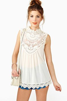 Tiny Dancer Crochet Top in What's New at Nasty Gal