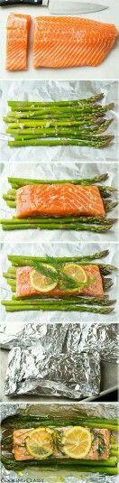 Salmon lemon asparagus