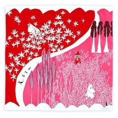 Amazon.co.jp: MOOMIN Tribute Works ハンカチ 50×50cm ここにいるよ グリーン: ホーム&キッチン