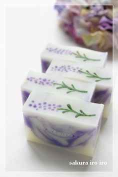 Lovely Lavender Handcrafted purple soap design