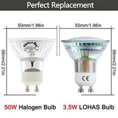 LOHAS® 10X GU10 Ampoules LED 3.5W Blanc Froid 6000K, Equivalente à Incandescence 50W, 380lm, 120° Larges Faisceaux, Spot Light Lampe, Non…
