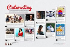 We've seen example of facebook-themed spreads and this spread has a similar concept. The fact that photos can be displayed in boxes make this spread good.