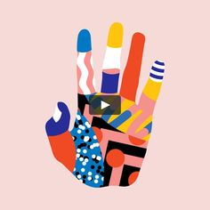 """This is """"Movement Festival Projection by Karan Singh on Vimeo, the home for high quality videos and the people who love them. Hand Illustration, Graphic Design Illustration, Graphic Art, Design Illustrations, Graphic Prints, Illustrations Posters, Animation, Wow Art, Arte Pop"""