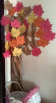 How to Make a Thankfulness Tree...love this...