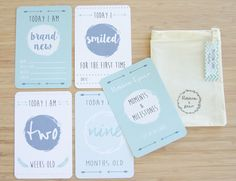 Moment and Milestone Cards Baby Boy by BlossomAndPear on Etsy