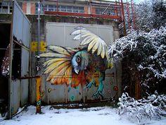 Refreshink Graffiti Bird in Italy