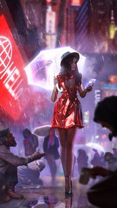 by Wojciech Wilk : Cyberpunk Cyberpunk Kunst, Cyberpunk Girl, Cyberpunk 2077, Cyberpunk Fashion, Character Inspiration, Character Art, Character Design, Cyberpunk Aesthetic, Sci Fi Characters