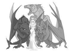 art, game of thrones, and daenerys targaryen image Game Of Thrones Dragons, Got Dragons, Game Of Thrones Art, Mother Of Dragons, Arya Stark, Daenerys Targaryen, Khaleesi, Dragon Poses, Dragon Anatomy