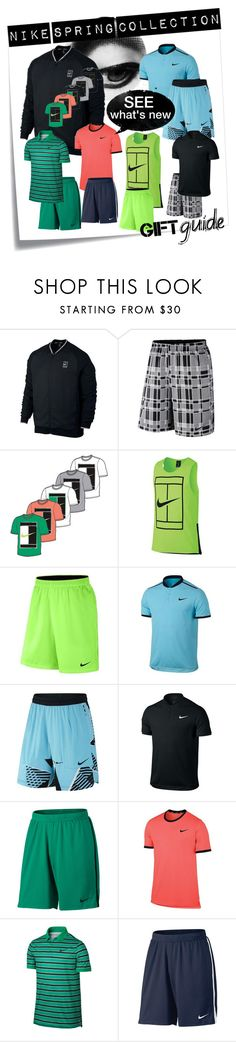 """""""New Nike Spring Tennis Gear For Men"""" by tennisexpress ❤ liked on Polyvore featuring Post-It, men's fashion and menswear"""