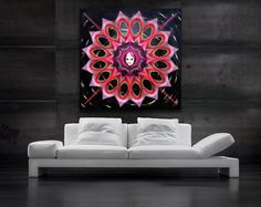 String & Nail Art 'The Dianthus Mandala'. Large by DantheStringArt