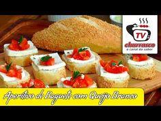 Aperitivo de Baguete com Queijo Branco TvChurrasco.com.br