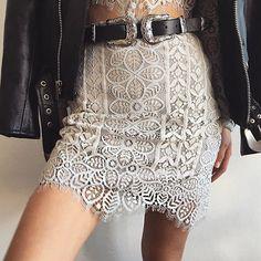 Metallic details in our Lyla Mini Skirt  Link in bio to shop #ForLoveandLemons