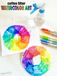 Coffee Filter Watercolor Art