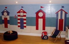 A beach hut mural to disguise wardrobe doors. http://www.charlottedesigns.co.uk