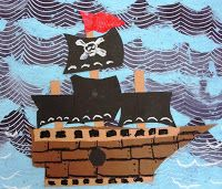 Deep Space Sparkle – Pirate Ship Art lesson for Fourth Grade Pirate Art, Pirate Theme, Pirate Ships, Pirate Crafts, Pirate Birthday, 2nd Grade Art, Fourth Grade, Bateau Pirate, Deep Space Sparkle