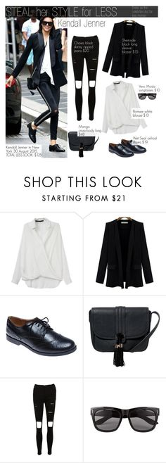 """""""Steal her style for less-Kendall Jenner"""" by bjelanovic-ana ❤ liked on Polyvore featuring Baldwin, Wet Seal, MANGO, Vero Moda, Newyork, Stealherstyle, kendalljenner and stealherstyleforless"""