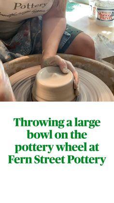 Thrown Pottery, Pottery Bowls, Ceramic Pottery, Pottery Wheel, Pottery Studio, Large Bowl, Ferns, Street, Videos