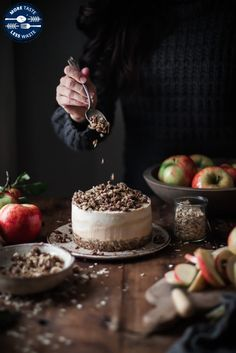 Pumpkin Cider Cheesecake and Oat Pecan Cookie Crumble by Kitchen McCabe Cashew Cheesecake, Pumpkin Cheesecake, Pecan Cookies, Create A Recipe, Special Recipes, Dessert Recipes, Desserts, Something Sweet, Let Them Eat Cake