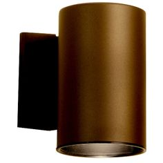 Ribbed Frosted Glass Shade / LED Light Wet Location Wall Fixture Neptune Bronze Finish