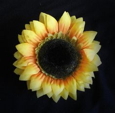 Sunflower Hair Clip by XtraOrdinaryBows on Etsy, $5.00